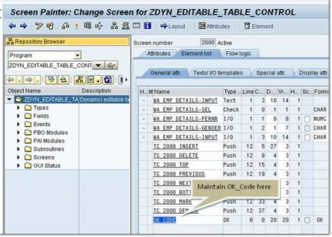 oops abap tutorial sap technical saptechnical com dynamically editable cells in a table