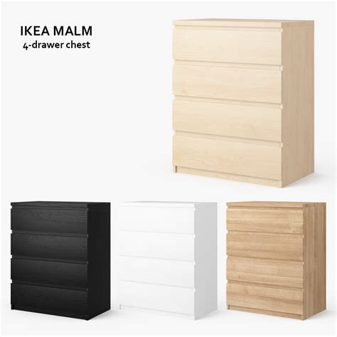 Malm 4 Drawer by Malm 4 Drawer Chest Obj