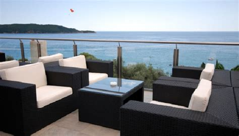 modern pool furniture desig for black wicker patio furniture ideas 20042
