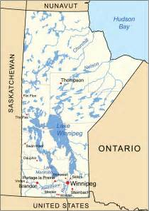 manitoba canada map geography of manitoba