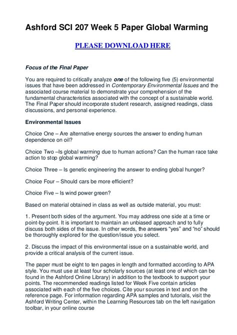 5 Page Research Paper On Global Warming by Essay On Global Warming Pdf Free
