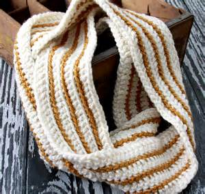 Striped Infinity Scarf Crochet Pattern Free Printable Artfully Simple Infinity Scarf Gift