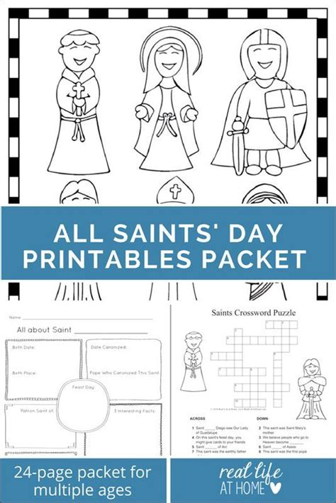 printable puzzle packets saints printables and worksheet packet all saints day
