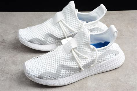 authentic adidas deerupt runner white grey blue shoes 2018 for sale yeezy boost 2019