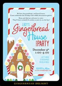 nealon design gingerbread house decorating invitation