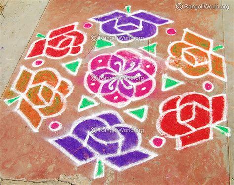new design flower kolam with dots chithirai thiruvizha kolam rangoli collection 1
