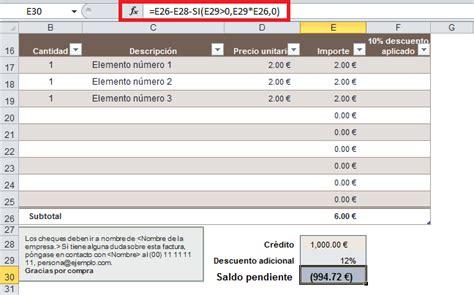 numerador automtico para facturas o recibos en excel plantilla de factura en excel excel total