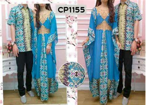 Baju Kapel Batik Muslim Baju Muslim Batik Biru Cp1155 Busana Lebaran