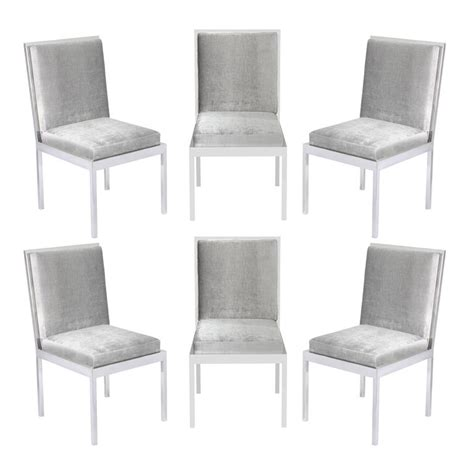 chrome dining room chairs set of six dining chairs in polished chrome by milo
