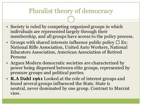 pluralism and liberal democracy pluralism vs elitism in policy essay