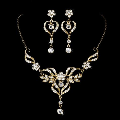 beautiful wedding jewelry set silver or gold