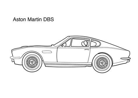 aston martin dbs coloring page coloring pages