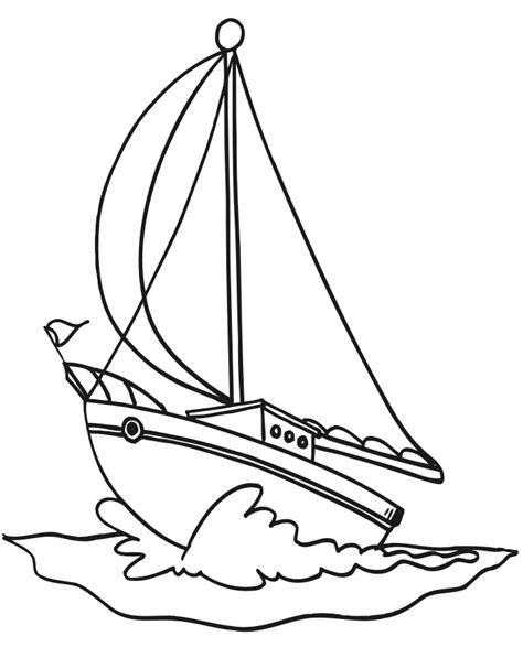 Boat Coloring Pages For Kids Coloring Home Coloring Pages Boats