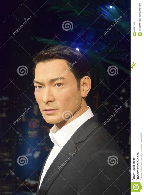 Singapore Telecom Hongkong Andy Lauw andy lau tak wah editorial photo image of figure statue