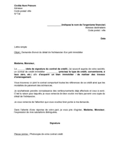 Exemple De Lettre De Demande D Un Pret Exemple Gratuit De Lettre Demande Envoi D 233 233 Ch 233 Ancier Un Pr 234 T Immobilier