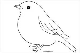 bird outline printable