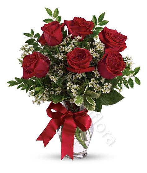 offerte fiori bouquet di 6 rosse