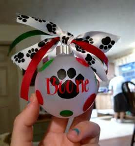 Personalized Christmas Ornaments Free Shipping - paw print personalized dog ornament