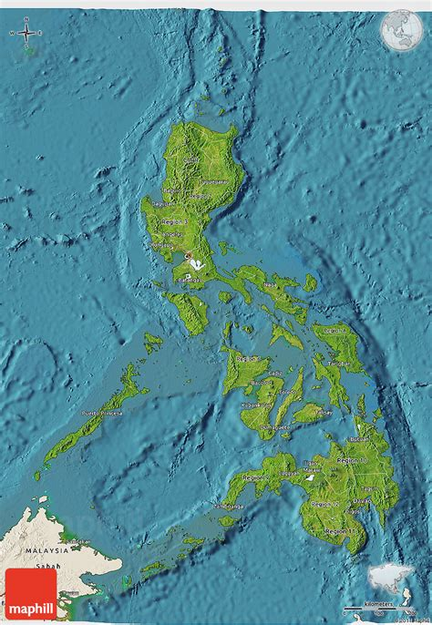 phil map via satellite satellite 3d map of philippines shaded relief outside