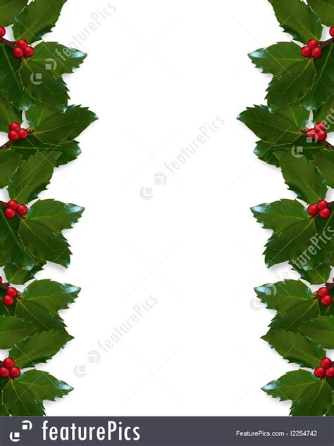 templates christmas holly border stock illustration