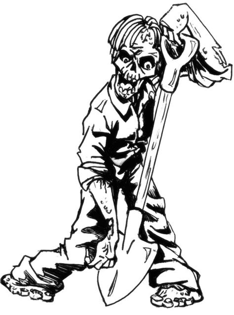zombie hunger coloring pages halloween cartoon coloring