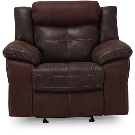 what is a glider recliner denver 44 quot brown microfiber manual glider recliner