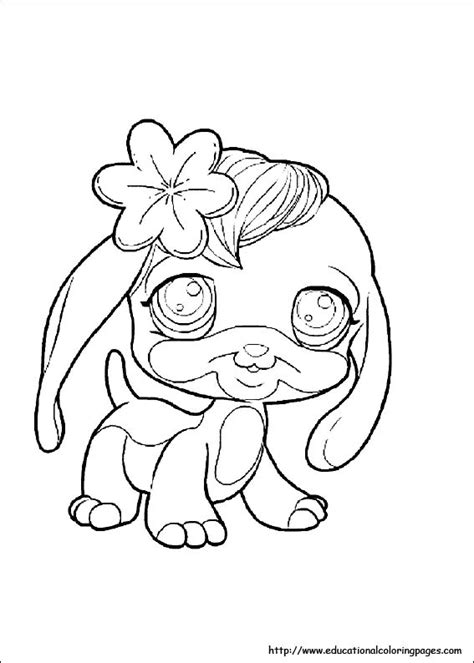 Pet Shop Coloring Pages free For Kids