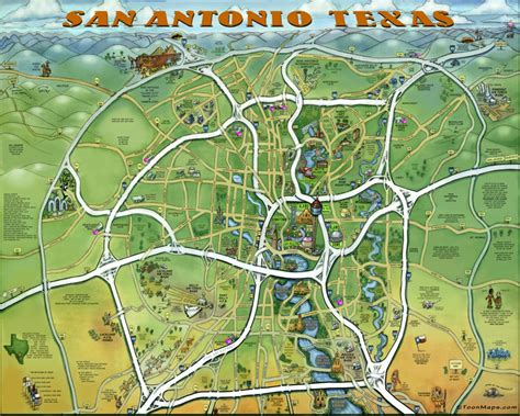 this awesome caricature map of san antonio features must