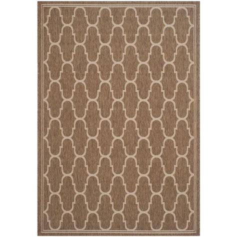 indoor outdoor rugs home depot safavieh courtyard brown bone 6 ft 7 in x 9 ft 6 in indoor outdoor area rug cy6915 232 6