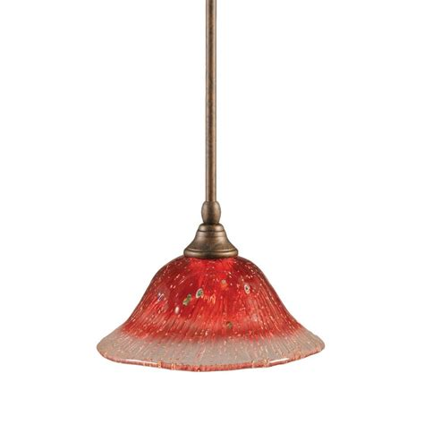 bronze glass pendant home decorators collection moravian 1 light large bronze