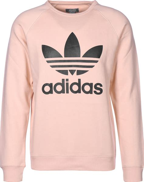 Sweater Adidas 3 Colors adidas trefoil crew sweater pink