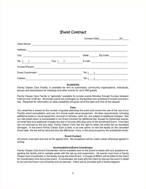 Photography Contract Template Template Business Event Contract Template
