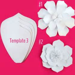 Paper Flower Diy Template 25 best ideas about paper flower templates on diy wall flowers paper flowers diy