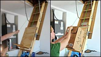 Stair Pulley System by Improve Your Attic Storage With This Diy Lift System