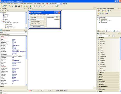tutorial embarcadero delphi 2010 въведение уроци за delphi