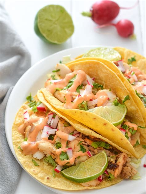 Kitchen Bright by Fish Tacos With Chipotle Lime Crema