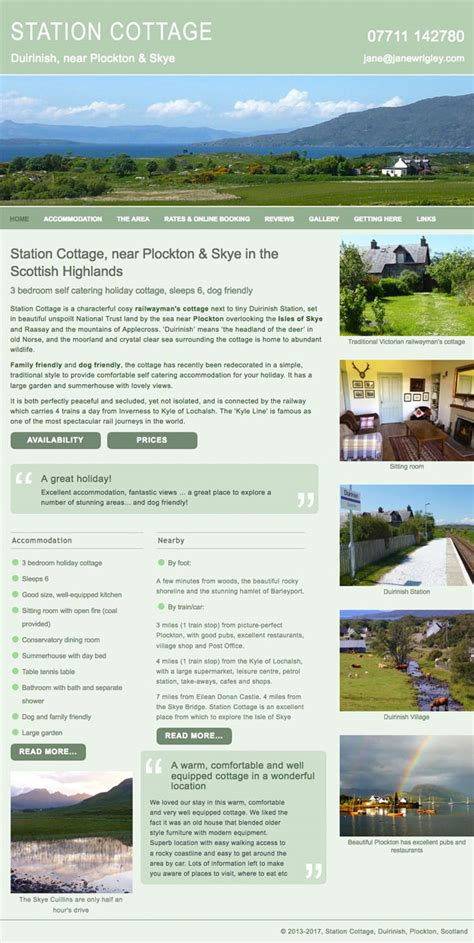 cottage websites station cottage self catering near plockton