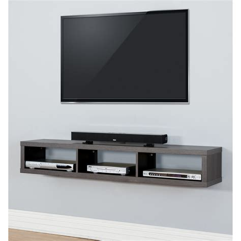 Tv Components Shelf by 60 Quot Shallow Wall Mounted Tv Component Shelf Wayfair