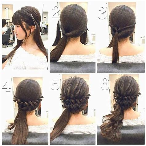 diy ponytail haircut for medium length hair fashionable braid hairstyle for shoulder length hair www