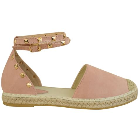 summer flat shoes womens espadrilles ankle strappy flat summer