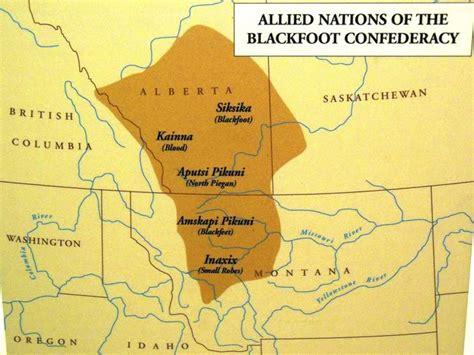 blackfoot american map blackfoot tribe location blackfoot indians map