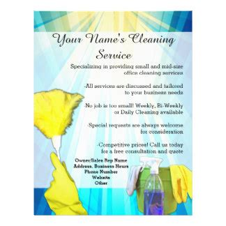 flyers for cleaning business templates cleaning service flyers programs zazzle