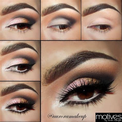 tutorial makeup minimalis pink gold smoky eye makeup tutorial with motives
