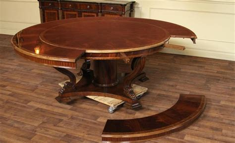 round expanding dining table expandable round dining table youtube with regard to