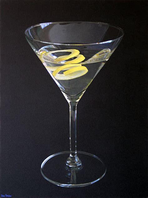martini twist martini with a twist of lemon on canvas painting by