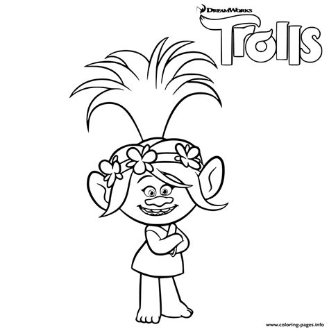 princess poppy trolls coloring pages pictures to pin on