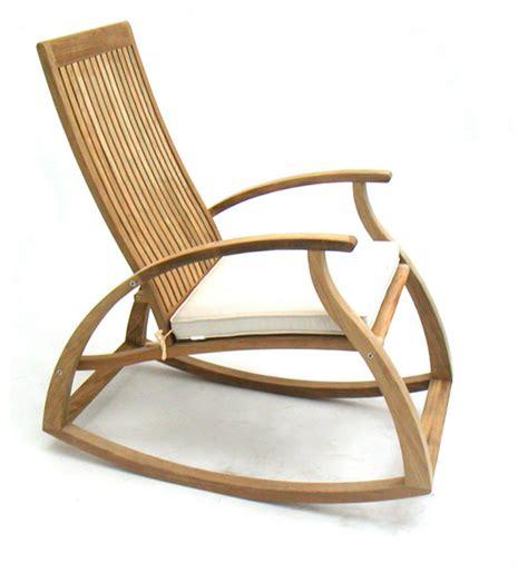 Modern Outdoor Rocking Chair by Modern Luxury Teak Rocking Chair