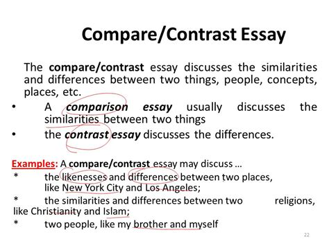 how to answer compare and contrast questions synonym