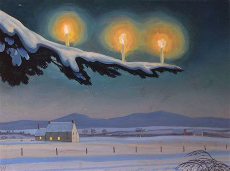 quot christmas quot by rockwell kent 1954 let it snow pinterest