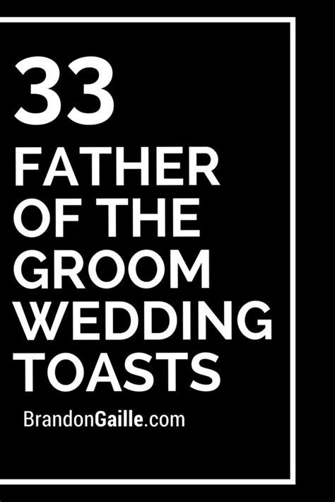 33 Father of the Groom Wedding Toasts   Wedding toasts